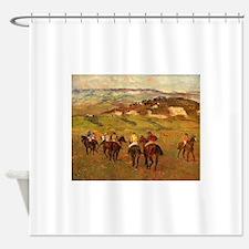 degas horse racing art Shower Curtain