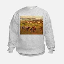 degas horse racing art Sweatshirt
