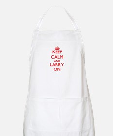 Keep Calm and Larry ON Apron