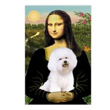 Mona Lisa (new) & Bichon Frise 1 Postcards (Packag