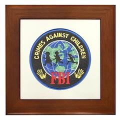 Crimes Against Children Framed Tile