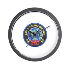Crimes Against Children Wall Clock