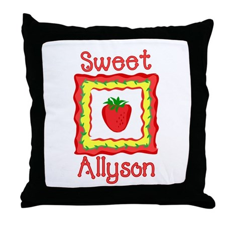 Sweet Allyson Throw Pillow