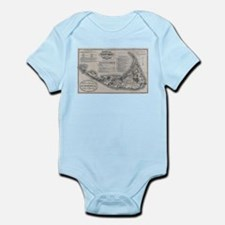 Vintage Nantucket Map Body Suit