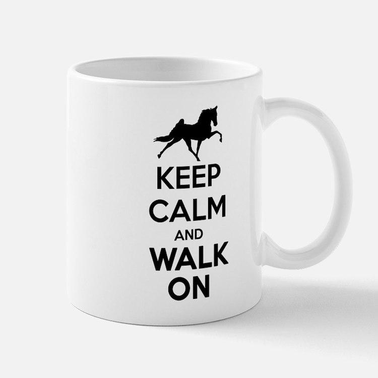 Keep Calm and Walk On Light Mugs
