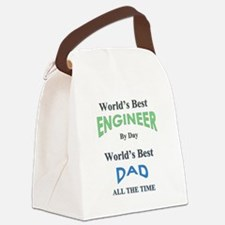 Funny Fathers day Canvas Lunch Bag