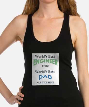 Funny Fathers day Racerback Tank Top