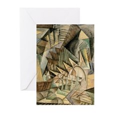 Rush Hour by Max Weber Vintage Cubi Greeting Cards