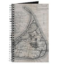 Vintage Nantucket Map Journal