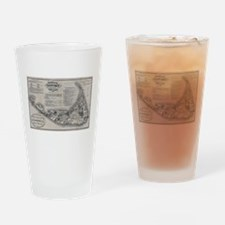 Vintage Nantucket Map Drinking Glass