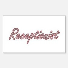 Receptionist Artistic Job Design Decal