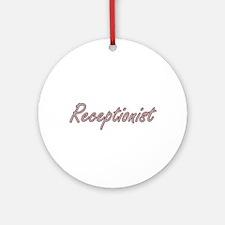 Receptionist Artistic Job Design Ornament (Round)