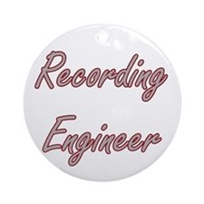 Recording Engineer Artistic Job D Ornament (Round)