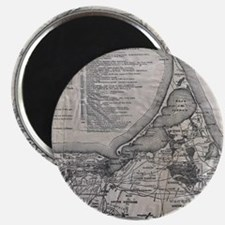 Vintage Nantucket Map Magnets