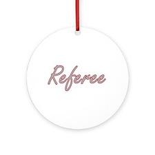 Referee Artistic Job Design Ornament (Round)