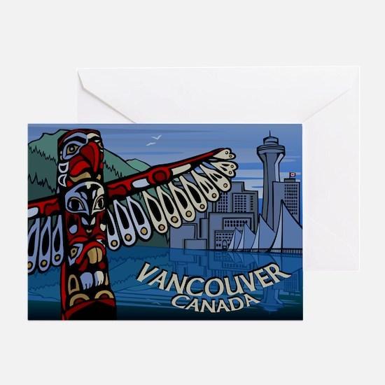 Vancouver BC Souvenir Greeting Card Totem Landmark