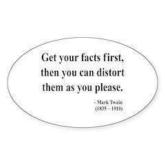 Mark Twain 27 Oval Decal