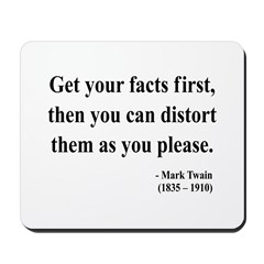 Mark Twain 27 Mousepad