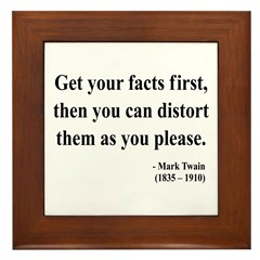 Mark Twain 27 Framed Tile