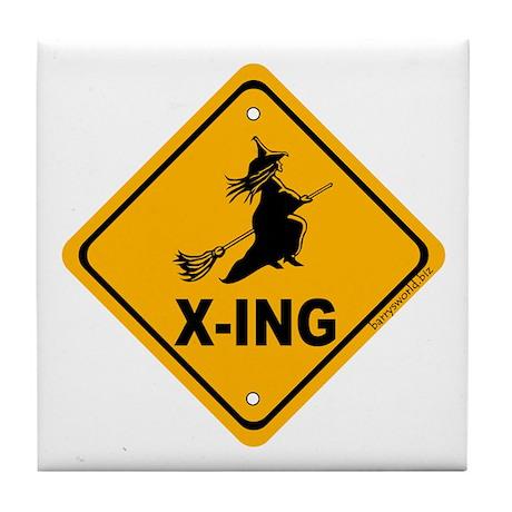Witch X-ing Tile Coaster
