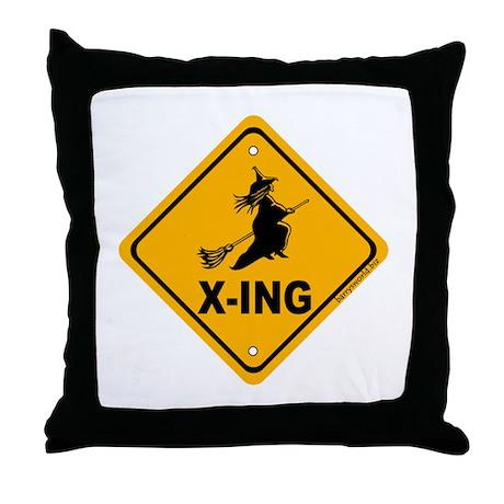 Witch X-ing Throw Pillow