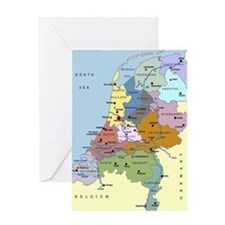 3-Netherlands_Map Greeting Cards