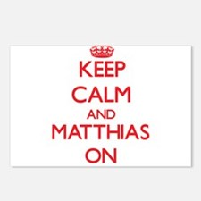 Keep Calm and Matthias ON Postcards (Package of 8)