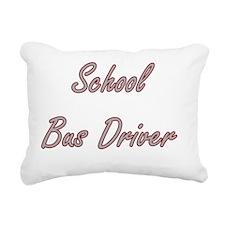 School Bus Driver Artist Rectangular Canvas Pillow