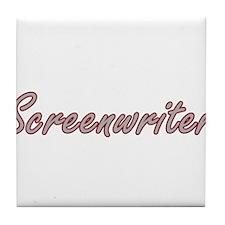 Screenwriter Artistic Job Design Tile Coaster