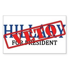 Veto Hillary Sticker (rectangle)