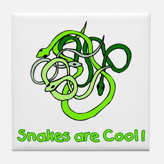 Snakes are Cool Tile Coaster