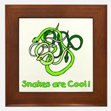 Snakes are Cool Framed Tile
