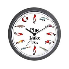Cute Twin pines Wall Clock