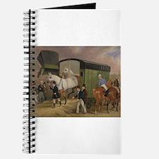 thoroughbred horse racing art Journal