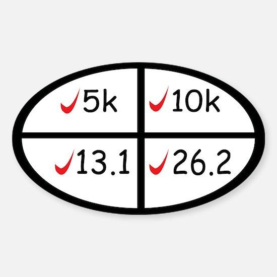 Marathon goals Bumper Stickers