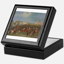 thoroughbred horse racing art Keepsake Box