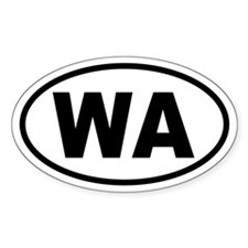Basic Washington Oval Decal