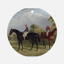 thoroughbred horse racing art Ornament (Round)