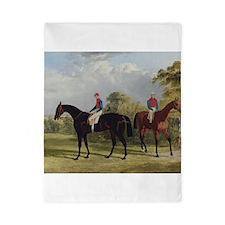 thoroughbred horse racing art Twin Duvet