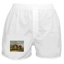 thoroughbred horse racing art Boxer Shorts