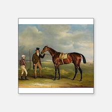 thoroughbred horse racing art Sticker