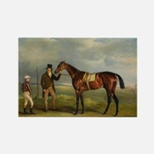 thoroughbred horse racing art Magnets