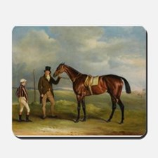 thoroughbred horse racing art Mousepad