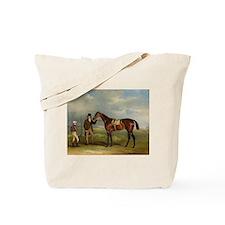 thoroughbred horse racing art Tote Bag