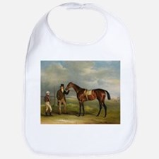 thoroughbred horse racing art Bib