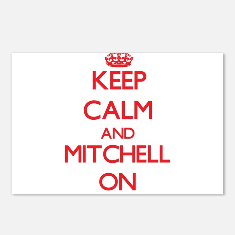 Keep Calm and Mitchell ON Postcards (Package of 8)