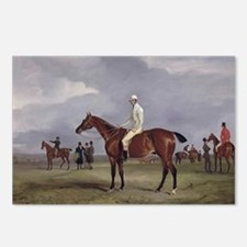 thoroughbred horse racing art Postcards (Package o