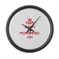 Keep Calm and Mohammed ON Large Wall Clock