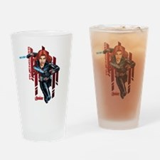 The Avengers Black Widow: Running Drinking Glass