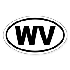 Basic West Virginia Oval Decal